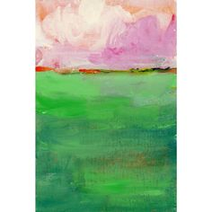 'Pink Sky' Painting Print on Wrapped Canvas
