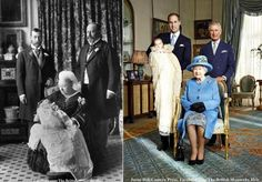 The last picture of a Monarch and 3 heirs together was taken in July 1894 during the christening of the future Edward VIII royals britain prince george Prince George Alexander Louis, Prince Phillip, Prince Edward, Prince William, Prince Albert, Prince And Princess, Princess Kate, Duke And Duchess, Duchess Of Cambridge