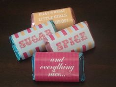 Sugar+And+Spice+Baby+Shower+Invitations | DIY Printable Sugar and Spice Mini Candy Bar Wrappers by ...
