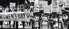8 de marzo de 1857 un grupo de obreras textiles decidio salir a protestar por las condiciones en las que tenian que trabajar.