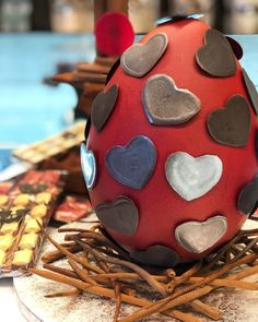 Easter Egg full of hearts! #LuboPatisserie #LuboMeansLove #LuboHeraklion #Frenchpastry #Greece #pastry #instacake #chefsgossips #love #chocolate #instafood #food #foodie #foodlover #themosrigas #dessert #chefsofinstagram #foodart #foodexpert #pastrychef #foodphotography #sugar #dessert #sweet #photooftheday #heraklion Heraklion, French Pastries, Pastry Chef, Food Art, Easter Eggs, Greece, Food Photography, Hearts, Sugar