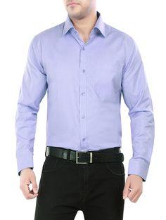 Light Blue Solid Formal Shirt