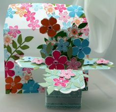 flowers in a flat box