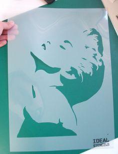 Iconic Madonna stencil, decorate, paint have creative fun with stencils http://www.idealstencils.co.uk/madonna-stencil-1996-p.asp