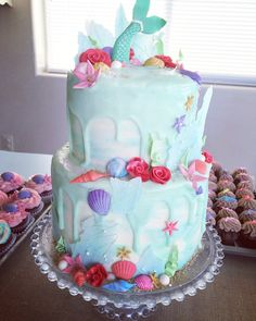 The Little Mermaid birthday cake