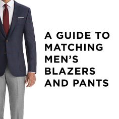 Pairing men's blazers and pants is part art, part science and all style. We break down our secrets to putting together great combos using the new Unsuits.