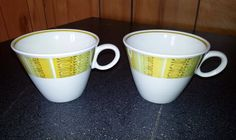 2 Vintage Franciscan Antigua Coffee Cups or by Midcenturyorbust