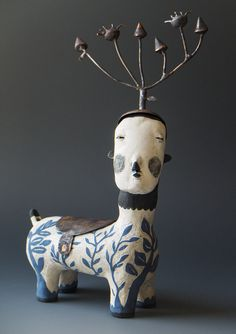 Morgan Brig is a mixed media artist specializing in fabricated copper and enamel sculpture. Ceramic Pottery, Pottery Art, Ceramic Art, Wall Sculptures, Sculpture Art, Ceramic Sculptures, Ceramic Sculpture Figurative, Mixed Media Sculpture, Art Brut