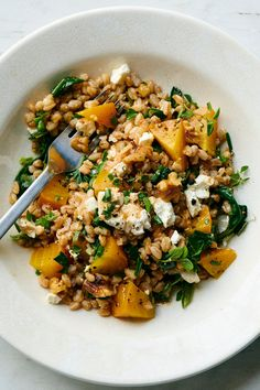 Farro Salad With Beets, Greens and Feta Recipe - NYT Cooking Farro Salad, Beet Salad, Kale Salads, Vegetarian Recipes, Cooking Recipes, Healthy Recipes, Spelt Recipes, Greek Recipes, Healthy Nutrition