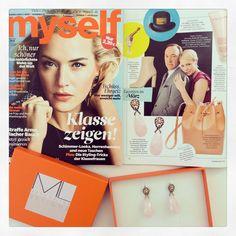 """ENDLICH WIEDER ERHÄLTLICH! Unser Bestseller Ohrring """"Classy Rosé Quartz""""  Modemagazin """"MYSELF"""" www.maschalina.com"""