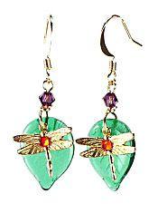 Jewelry Making Idea: Dragonfly Earrings (eebeads.com)