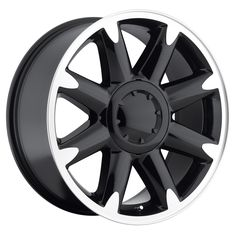 Gmc Yukon Denali Wheel Black Machine Face With Cap By Factory Reproductions 3808053169