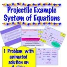 This is a powerpoint of the animated solution to 1 projectile problem that requires substitution to solve. My students solved systems of equati...