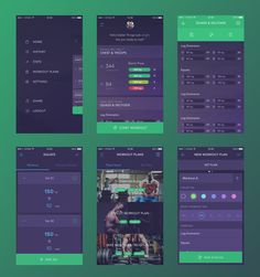 Workout Book App Concept by Vitaly Rubtsov for Yalantis