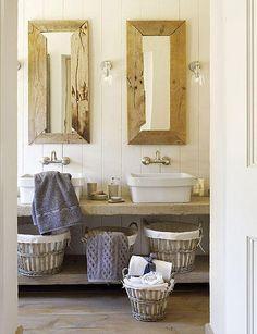 Un lavabo de estilo rústico