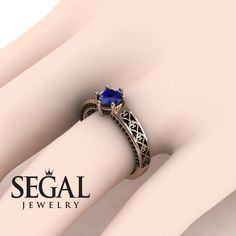 Yellow Gold Engagement Ring by Segal Jewelry Elegant Engagement Rings, Deco Engagement Ring, Rose Gold Engagement Ring, Designer Engagement Rings, Silver Wedding Bands, Wedding Ring Bands, Bridal Rings, Gold Wedding, Edwardian Ring