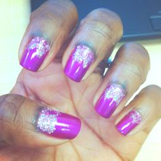 Purple rain nails with frosting :)