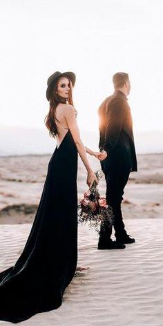 black wedding dress bride and groom match! wedding black 21 Black Wedding Dresses With Edgy Elegance Wedding Poses, Wedding Photoshoot, Wedding Shoot, Wedding Ideas, Wedding Planning, Bridal Shoot, Gothic Wedding, Boho Wedding, Dream Wedding