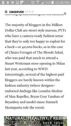 1 The Blonde Salad, The Millions, Instagram Accounts, Street Style, Happy, Urban Style, Ser Feliz, Street Style Fashion, Street Styles