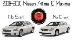 Nissan Maxima & Altima - No Start, No crank, Push to start button unresponsive repair (steering lock failure) - http://autofixpal.com/nissan-maxima-altima-no-start-no-crank-push-to-start-button-unresponsive-repair-steering-lock-failure/ - The Nissan Altima 2008-2010 seems to be the vehicle most effected by this common problem where the vehicle will not start suddenly. The symptoms are as if you don't have your key fob with you, you press the start button and absolutely nothin