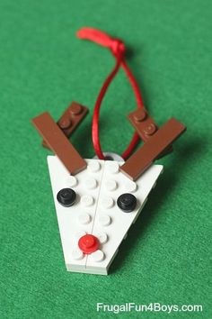 Five Lego Christmas Projects to Build (With Instructions!) - Frugal Fun For Boys and Girls Christmas Lego Projects with Instructions This image has g . Lego Christmas Ornaments, Christmas Crafts For Kids, Xmas Crafts, Christmas Projects, Christmas Fun, Diy Crafts, Rudolph Christmas, Lego Design, Legos