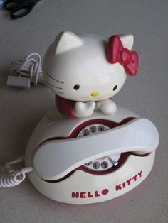 Vintage 1976 Sanrio Hello Kitty Rotary Telephone - Phone works! - Made in Japan | eBay