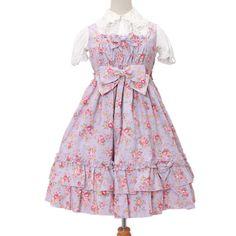 花柄フリルジャンパースカート