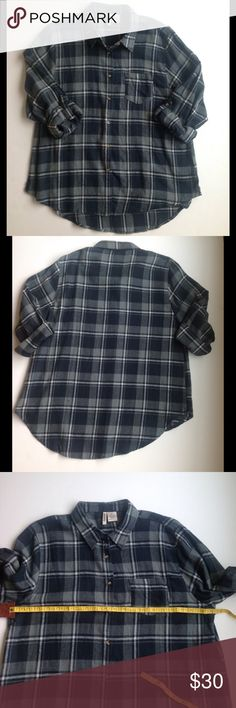 Passport flannel - NWOT Flannel with high low style. Tags clipped but never worn. Passport Tops Button Down Shirts
