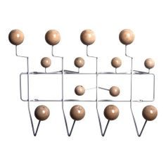 Eames Hang-It-All Coat Rack; Cheap Eames Hang It All coat rack; Eames Style Hang-It-All Nature Color Coat Rack Wood Balls Coat Hanger, Coat Hooks, Clothes Hanger, Hangers, Best Dad Gifts, Gifts For Dad, Modern Loft, All Modern, Colored Bubbles