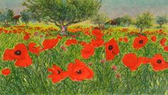 franco azzinari - Google Search Lavender Fields, Wild Flowers, Poppies, Grass, Google Search, Painting, Art, Wildflowers, Grasses