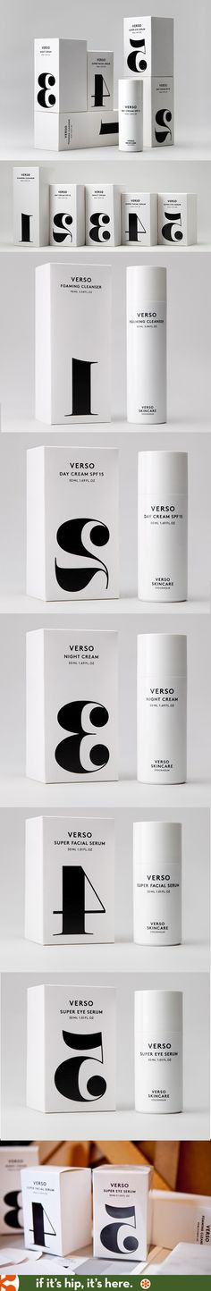 I love the simplicity and reversed numbers packaging on the aptly named Verso skincare from Sweden