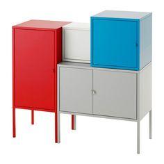 LIXHULT Förvaringskombination IKEA En färgstark färdig kombination där du kan förvara både stort och smått.