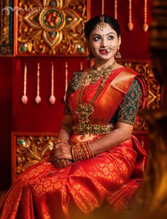 Beautiful South Indian Wedding Wear Idea :- AwesomeLifestyleFashion Different Culture have their own look and style and Kanjivaram and. Wedding Saree Blouse Designs, Pattu Saree Blouse Designs, Blouse Designs Silk, South Indian Blouse Designs, Wedding Blouses, Hand Work Blouse Design, Indian Wedding Wear, Indian Bridal Outfits, Indian Bridal Fashion