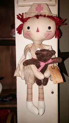 Nurse Raggedy doll custom listing for Phipps by CindysHomespun