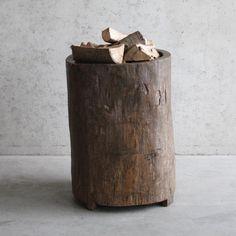 Robuuste houten vijzel