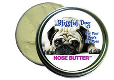 Pug Nose Butter Dry, Crusty Dog Noses Balm Salve Ointment by The Blissful Dog 1 oz..