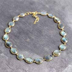 Auren 22ct Gold Vermeil Multistone Watercolour Necklace
