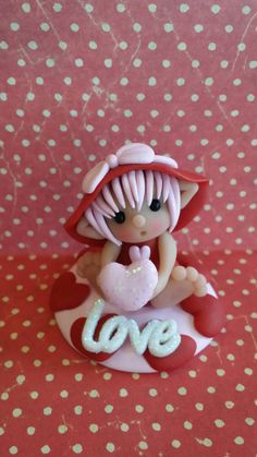 Sweetie Elf Valentine Love-Polymer Clay by Whimsybydesign1 on Etsy