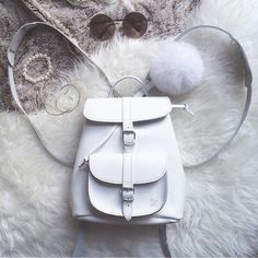 SNOWBALL settings - leather backpack made by @grafea at www.grafea.com