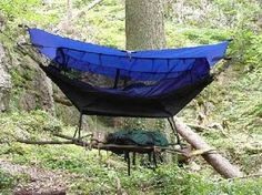 Happy Campers Flying High When people go camping, it is important to do everything possible to keep dry and safe from animals. I'm loving these cool hanging tents that keep campers high, dry, and out. Camping Life, Tent Camping, Camping Gear, Outdoor Camping, Camping Stuff, Campsite, Backpacking, Outdoor Fun, Outdoor Gear