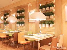 Кафе, оформленные в стиле минимализм, очень популярны у молодого поколения, поэтому сейчас все чаще появляются заведения с лаконичными  интерьерами, которым присущи четкость, прямота линий и монохромность цвета