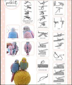 Crochet Bird Patterns, Knitted Doll Patterns, Crochet Birds, Crochet Doll Pattern, Knitted Dolls, Cute Crochet, Irish Crochet, Crochet Animals, Crochet Crafts