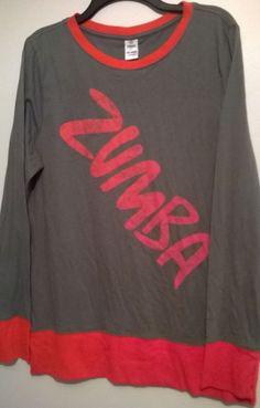 Women's Grey / Pink Zumba Fitness Indulge Long Sleeve Top NWOT - Size XXL #Zumba