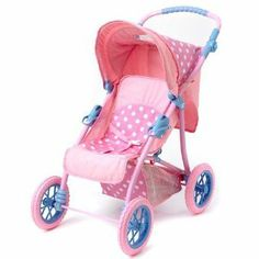 Madame Alexander Dolls Sweet Baby Nursery Stroller, Play Alexander Series by Alexander Dolls. $69.95. Darling pink baby doll stroller. Fold easily. Fits most doll sizes. Adjustable handle. Adjustable reclining seat and canopy. Amazon.com                The Sweet Baby Nursery Stroller from Madame Alexander is a toy stroller that sports authentic details that will even make real moms jealous. From its adjustable comfort-grip handle and metal frame down to its treaded plastic w...