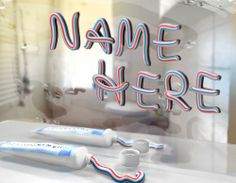 I will Write your name from toothpaste, pearl and nuts in just $5