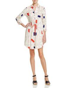 Tory Burch Geo Print Drawstring Shirt Dress - 100% Bloomingdale's Exclusive | Bloomingdale's