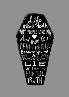 Poster | LIFE ASKED DEATH... von Budi Kwan | more posters at http://moreposter.de
