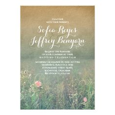 Rustic Wedding Invitation - The Summer Meadow. $2.20