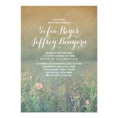 Rustic Wedding Invitation - The Summer Meadow. $2.20