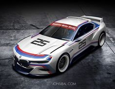 BMW 3.0 CSL Hommage Concept in racing colors